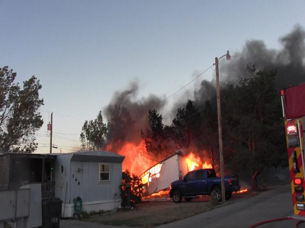 Monday evening fire destroys Scottsbluff trailer home