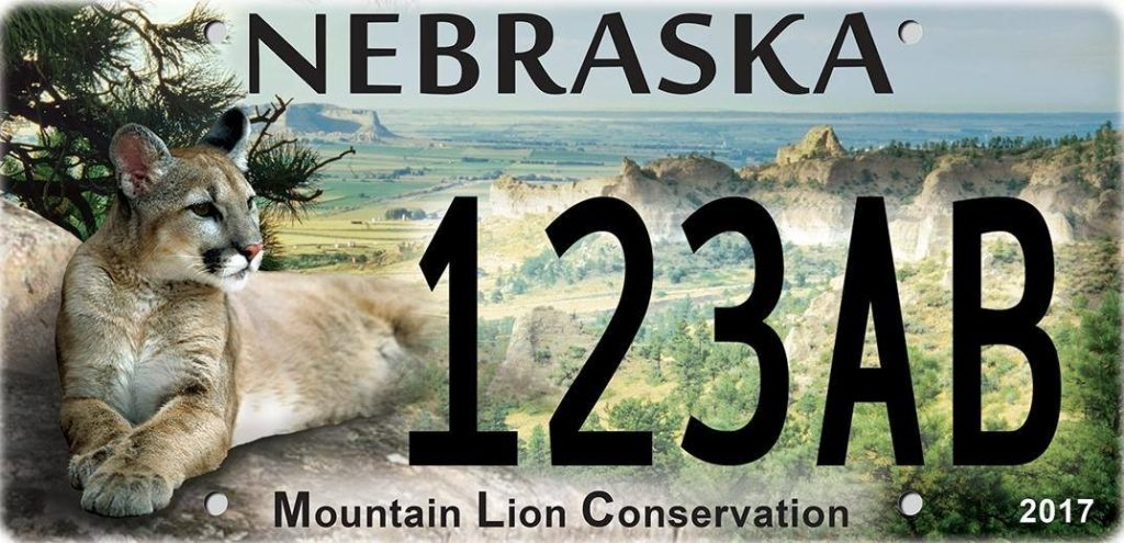 Mountain Lion Conservation plate now available
