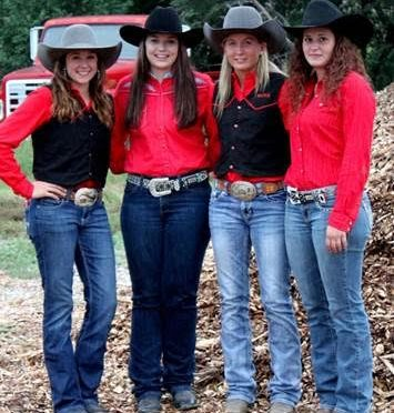 NCTA Aggie Women's Rodeo Team is in third place of the Great Plains.  Members are Tara Spatz, Trotwood, Ohio; Tryssta Duval, Max; Lexus Kelsch, McLaughlin, S.D., and Erica Mowery, Middleburg, Penn.