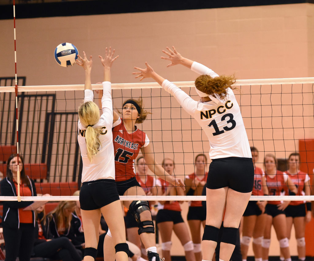 Northeast volleyball defeats North Platte in straight sets