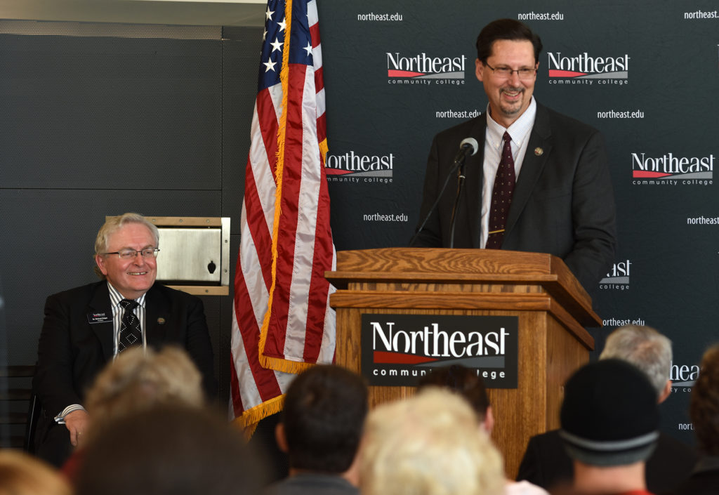 Northeast dedicates new residence hall, dining facility; Path calls naming an incredible recognition