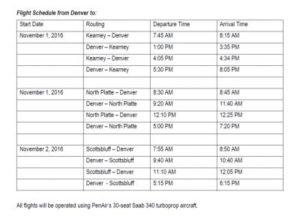 PenAir Schedule