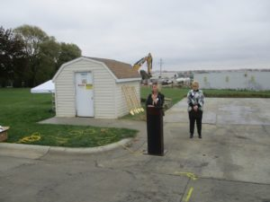 RRN/CEO Melissa Kelly and Clinic Manager Lori Minert at groundbreaking ceremony for new Pender Medical Clinic