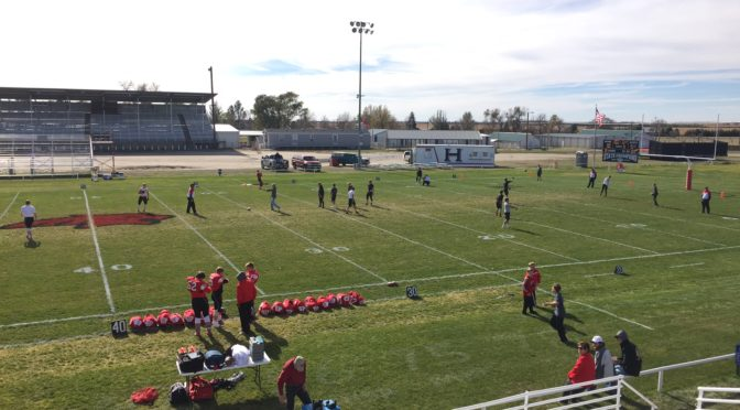 Bobcat Field at Hemingford (prior to kickoff of last year's playoff game with South Loup)