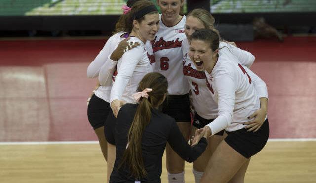 Big weekend ahead for Husker volleyball. (photo courtesy Stephanie Carpenter-Nebraska communications)