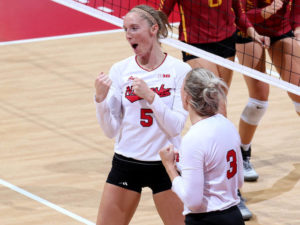 Three Huskers Honored with B1G Weekly Awards