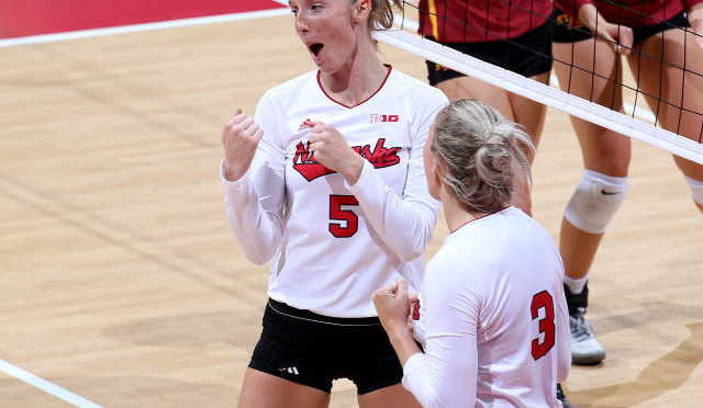 Amber Rolfzen was named Big Ten Player of the Week on Monday. Photo Courtesy Scott Bruhn/Nebraska Communications