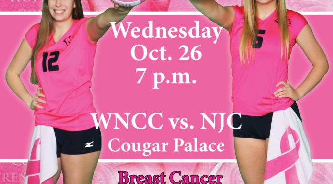 No. 2 WNCC hosting NJC on breast cancer awareness night.