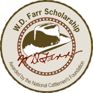 Bullard, Webb Receive W.D. Farr Scholarships from the  National Cattlemen's Foundation for 2016-17