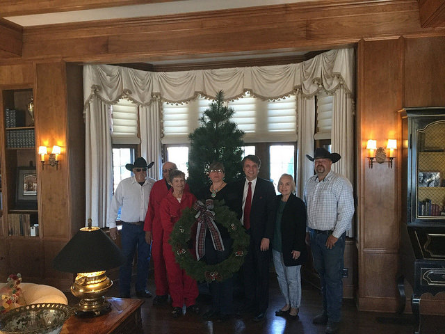 Governor's Christmas Tree Delivered to Cedar Crest