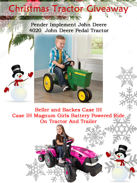 Christmas Tractor Giveaway 2016 - 2