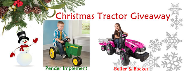 Christmas Tractor Giveaway 2016