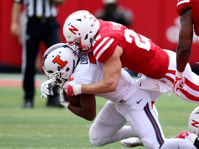 Nebraska All-Conference DB Nate Gerry is ineligible for the bowl game