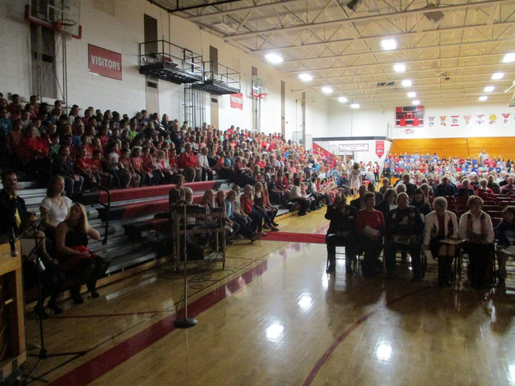 (Audio) Veterans Honored at West Point-Beemer High School