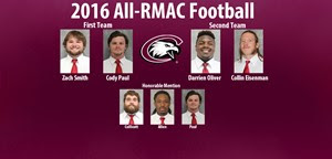 Seven Eagles, including Gering's Zach Smith, in All-RMAC football release