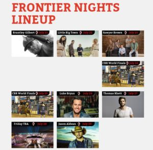 Slew of Top 40 Country Music acts to headline Cheyenne Frontier Days