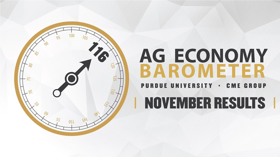 Latest CME Ag Economy Barometer Shows Post-Harvest Grain Rally Lifts Spirits