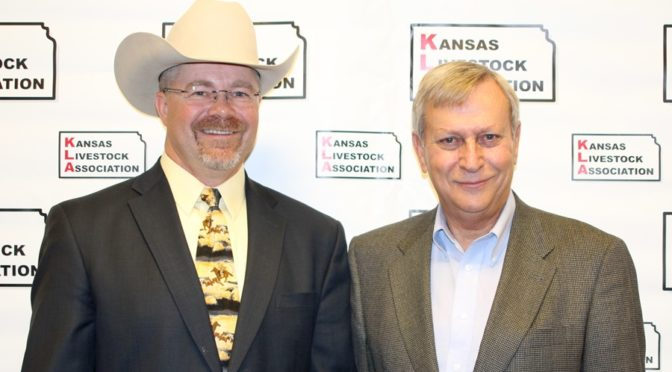 (L to R) David Clawson of Englewood was elected Pres. of KLA while Lee Reeve of Garden City was choses as Pres-Elect at their recent meeting in Wichita. (Photo courtesy of KLA)