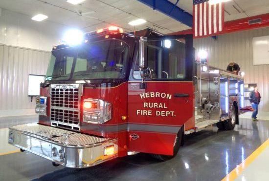 Courtesy/Hebron Fire Department. New fire truck.