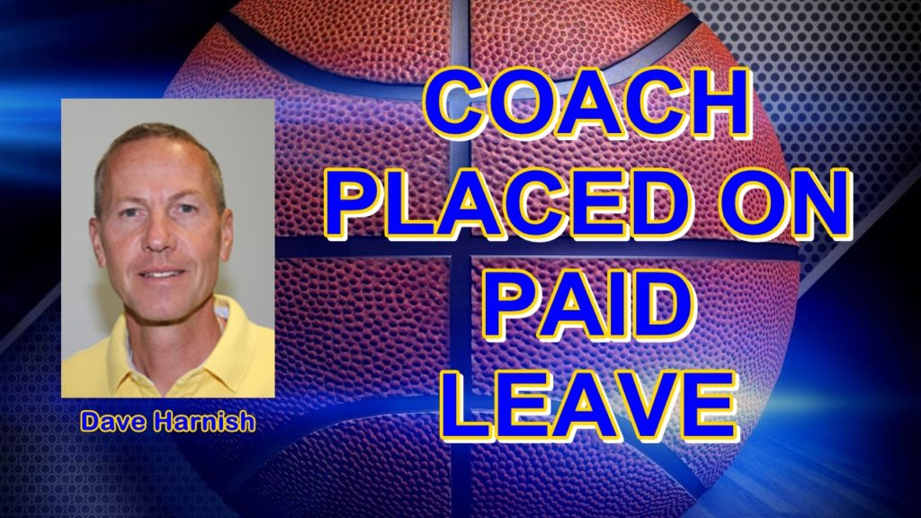 Harnish, assistant coach on paid leave