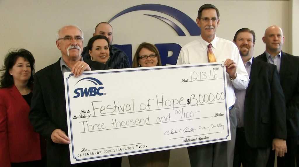 SWBC employees donate to Festival of Hope