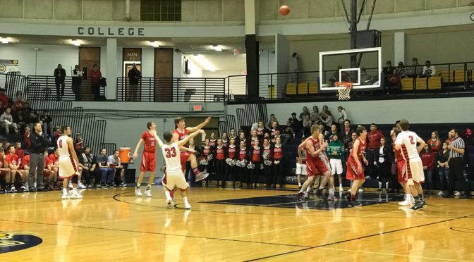 Scottsbluff junior Gabe Patton launches three in a win over Sidney on Friday night.