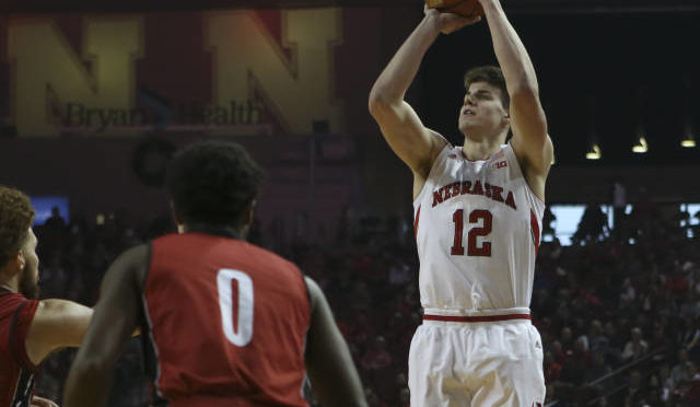 Michael Jacobson averaged 11.0 points, 8.5 rebounds and 2.5 assists last week. Photo Courtesy Stephanie Carpenter/Nebraska Communications