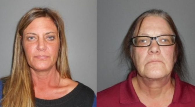 Courtesy/ Dawson County Sheriff's Office.  Melissa McCoy, Diane McCoy.