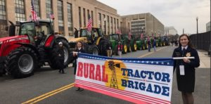 Farm Tractors Part of Inauguration Day Parade