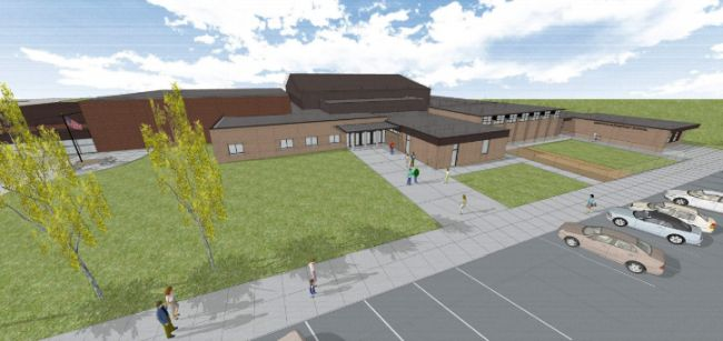 Courtesy/Hampton Public Schools. Rendering of elementary school/new gym project.