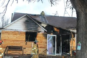 (AUDIO) Electrical fire guts Hebron home