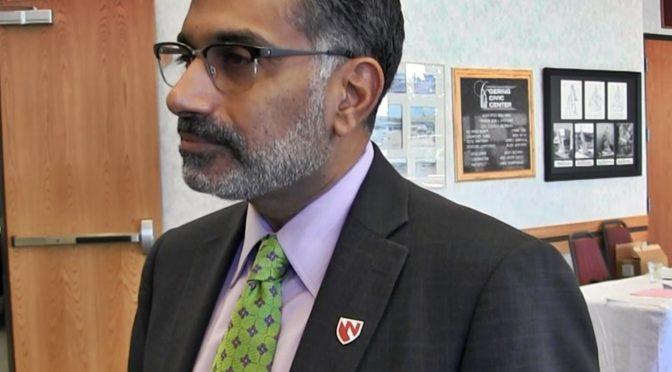 University of Nebraska Medical Center Dr. Ali Khan, M.D., M.P.H., dean of the College of Public Health. (Mooney/RRN/KNEB)