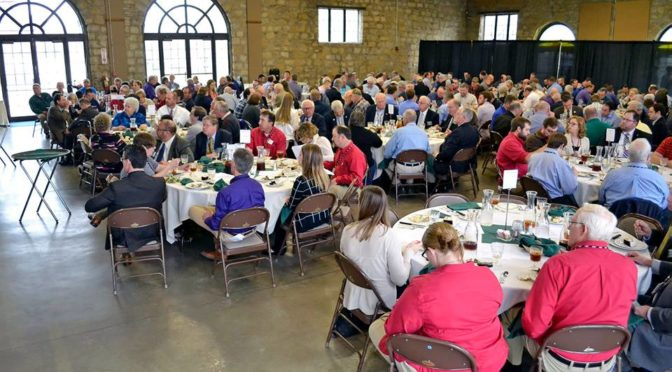 Nearly 300 soybean enthusiasts – the largest crowd in 36 years – gather in Topeka for the Kansas Soybean Expo (Courtesy of KS Soy)