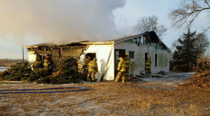 RRN/ Lexington Volunteer Fire Department responded to a house fire west of Lexington Thursday morning January 12, 2017.