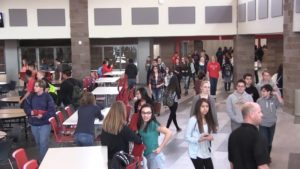 Students and staff enjoying newly renovated addition of Scottsbluff High School
