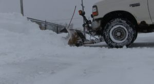 Local snow plow businesses keeping busy on Tuesday
