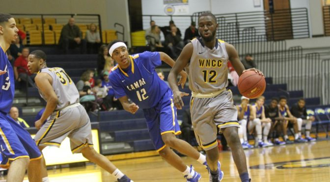 Michael Connor Jr on the drive Saturday in win over Lamar. (photo courtesy of WNCC)