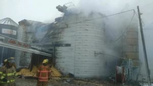 Grain Elevator Fire Ends in Total Loss
