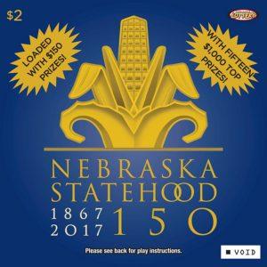 Nebraska Lottery Celebrates State's Anniversary with Nebraska 150 Scratch Game