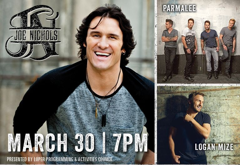 Joe Nichols headlines March 30 UNK concert; Parmalee, Logan Mize open