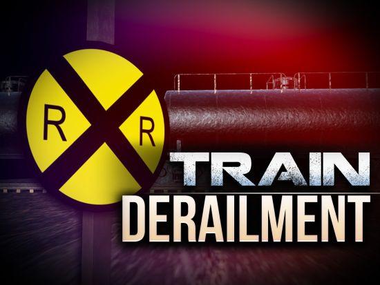 NDOT: Grain car train derailment blocks roadway in Brule