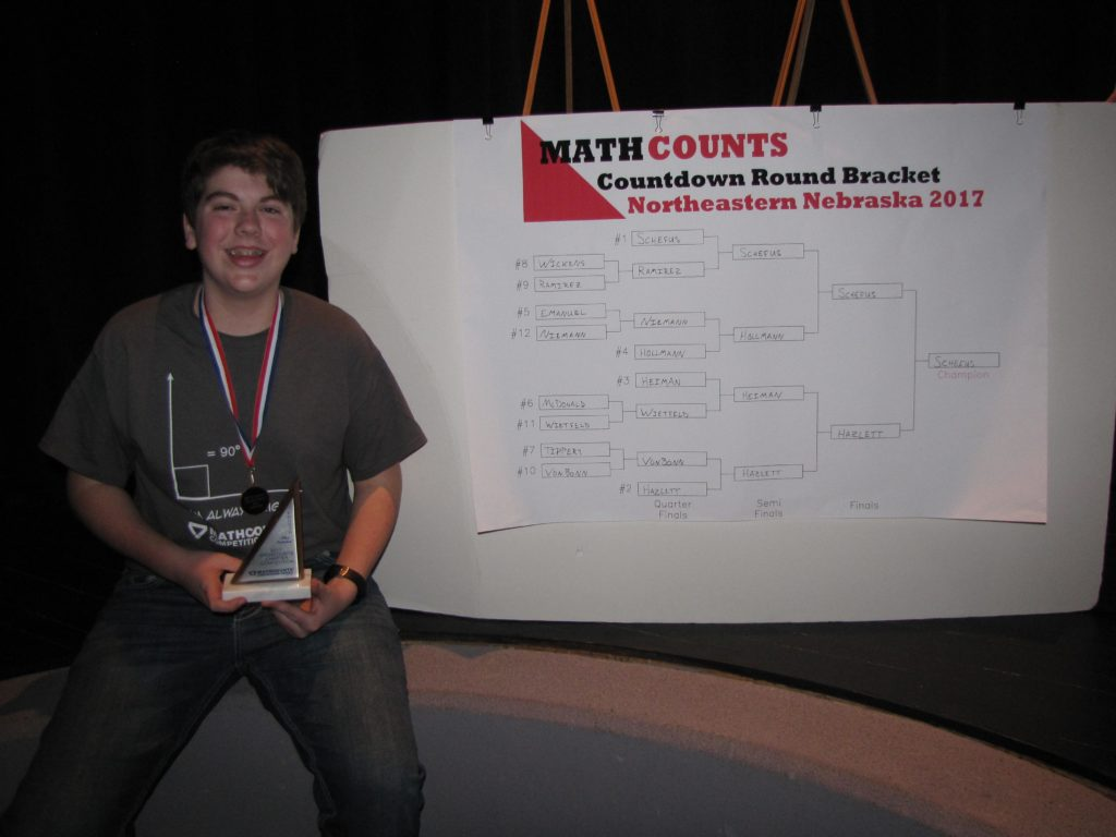 (Audio) Verdigre 8th Grader Advances to MathCounts  State Competition In March