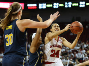 Husker Women Start Slow in Loss at Michigan