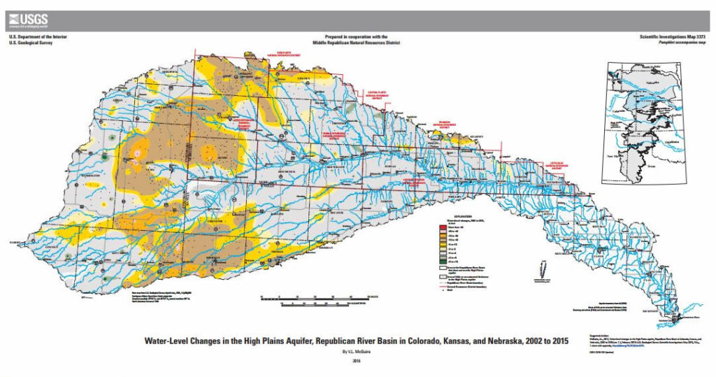 New USGS Map Of High Plains Aquifer Represents Conditions After - Aquifer map of us
