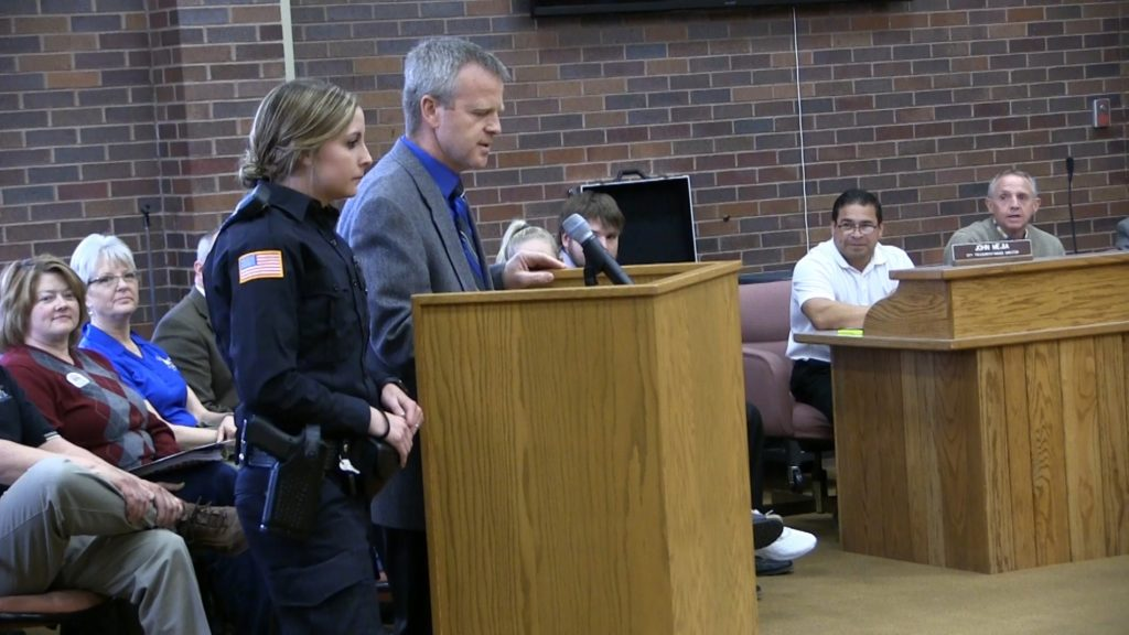 Gering Police Chief introduces newest officer to the force