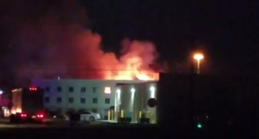 North Platte Holiday Inn Express fire contained
