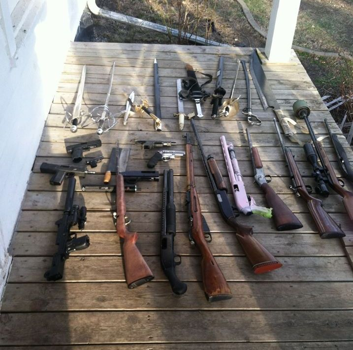 Numerous weapons seized in Saunders County search warrant