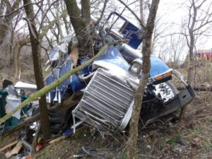 One transported after violent I-80 wreck