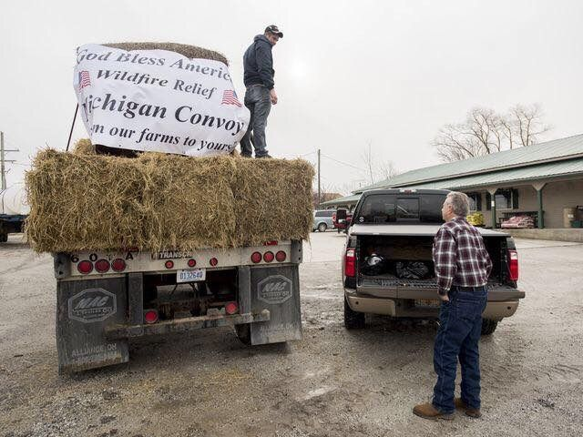 (AUDIO) Hay and fencing supplies departed Michigan for KS, OK and CO