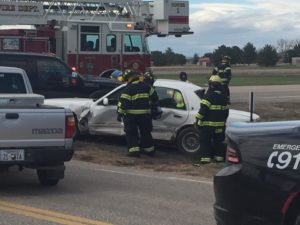 One person taken to RWMC following three vehicle accident